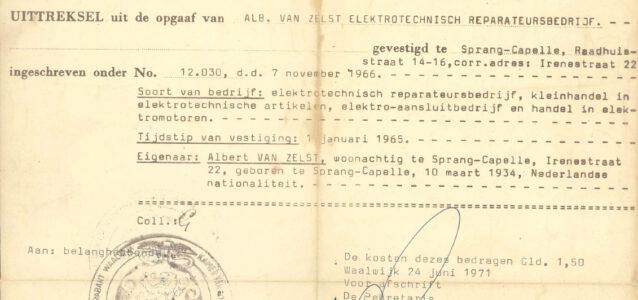 Oprichtingsakte_KvK_Van_Zelst_1966_jubileum_55jaar_2021