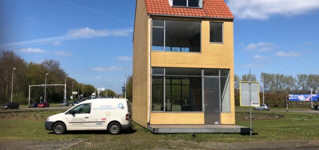 Draaiend_Huis_kunstwerk_Hasseltrotonde_Tilburg_revisie_motorreductoren_Van_Zelst_Elektromotoren